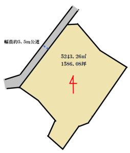 大巌寺町区画図